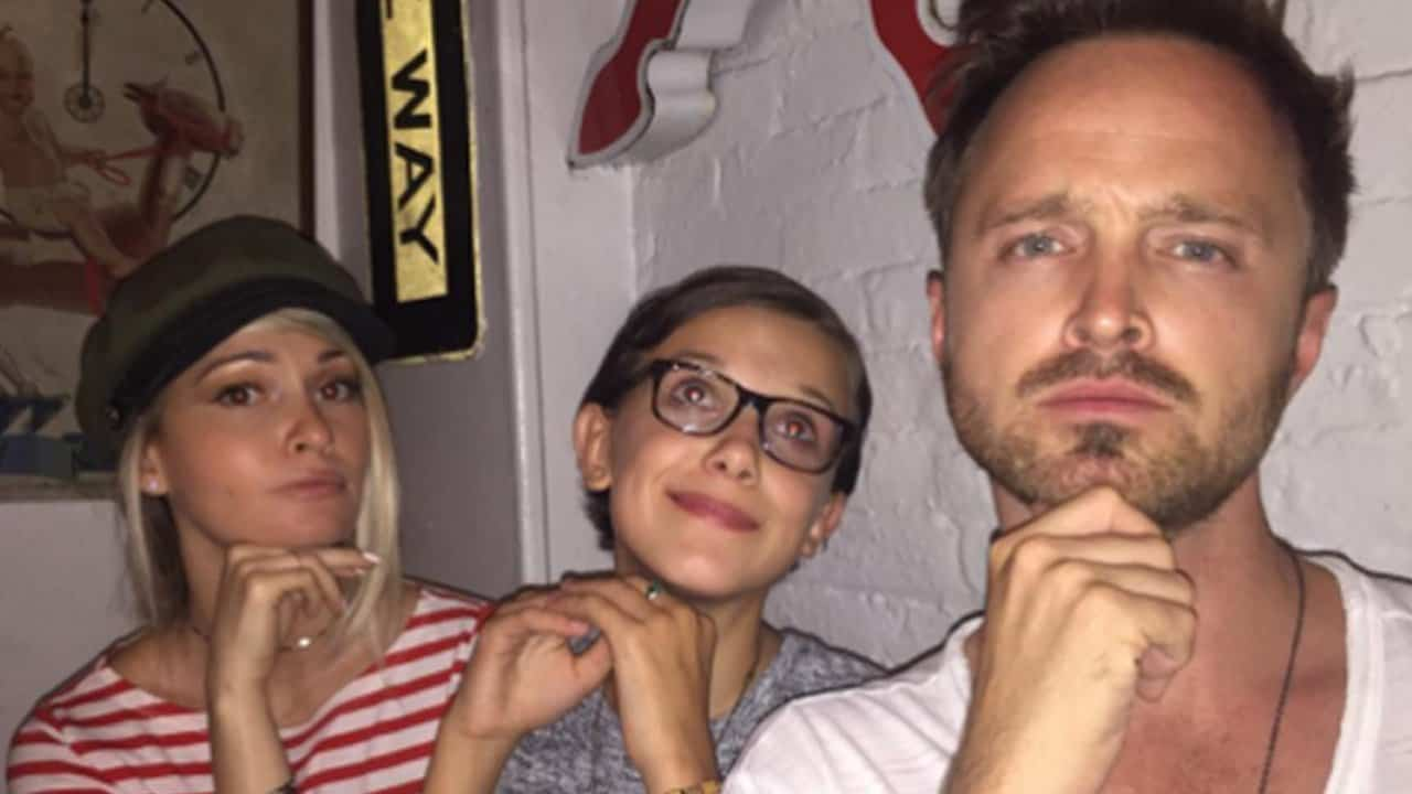 1280_aaron_paul_millie_bobby_brown_lauren_paul_instagram