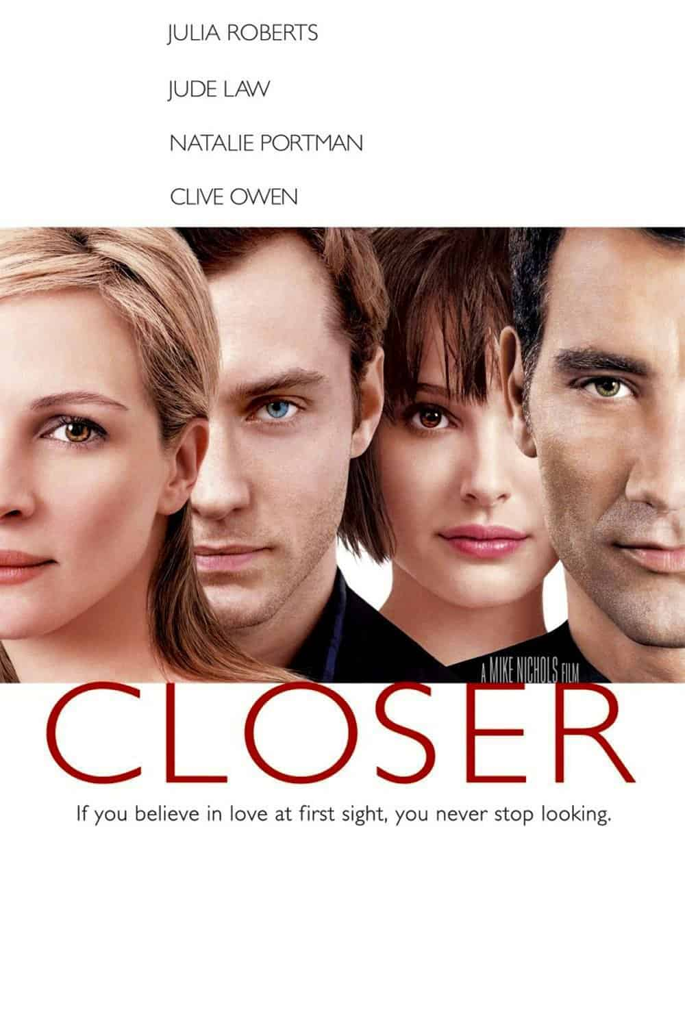 Photo of Closer – Cos'ha di bello la verità? – con Jude Law, Julia Roberts, Clive Owen, Natalie Portman