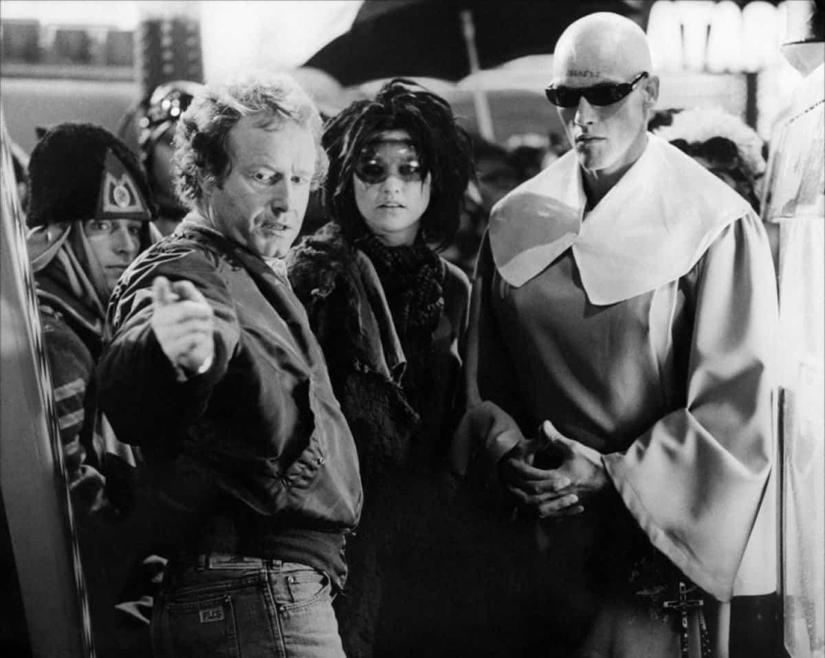 Ridley Scott sul set di Blade Runner
