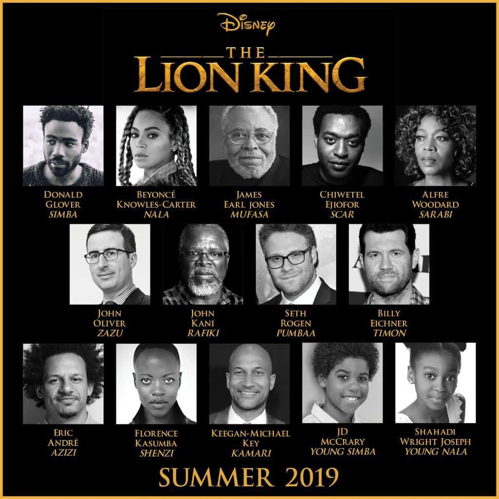 Cast ufficiale Il Re Leone