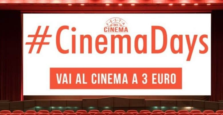Photo of CinemaDays: dal 9 al 12 Aprile al cinema con 3 euro!