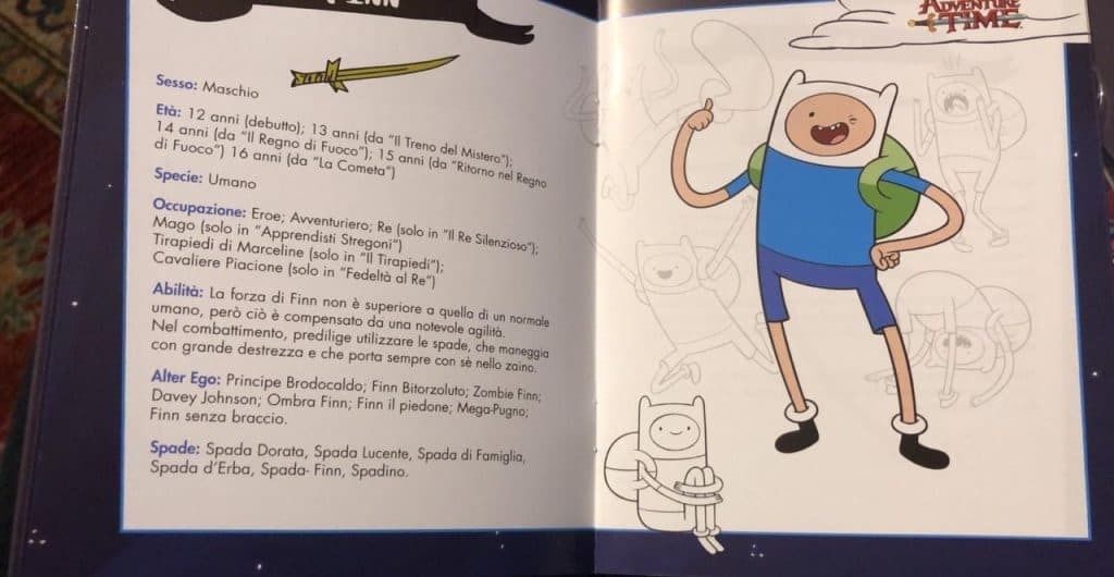 booklet adventure time