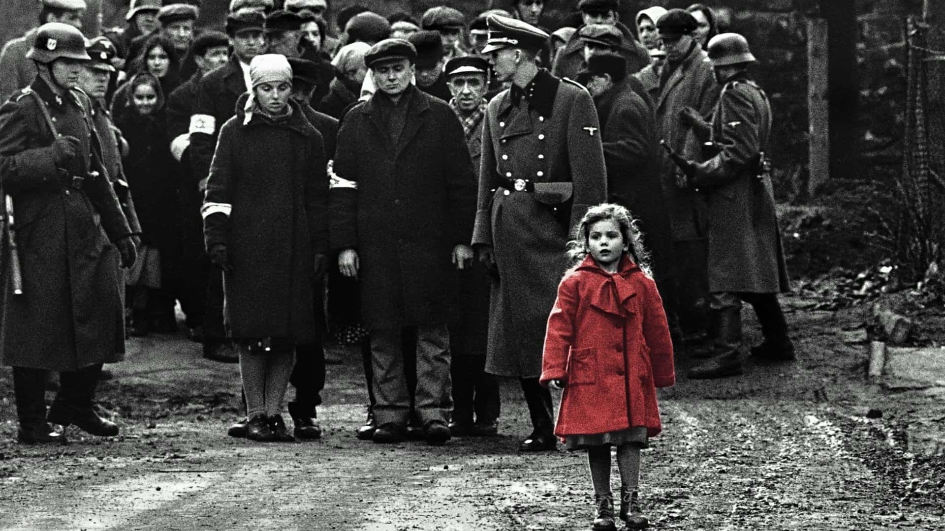 schindler's list cappotto rosso